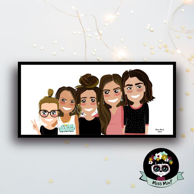 regalos originales y personalizados para amigas miss mint ilustraciones