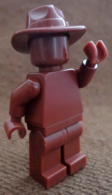 Reddish Brown Monochrome Minifigure: Cowboy