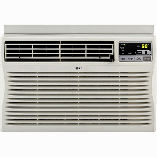 LG 8,000 BTU Window-Mounted Air Conditioner with Remote Control (115 volts)