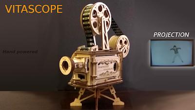 电影放映机 木制模型