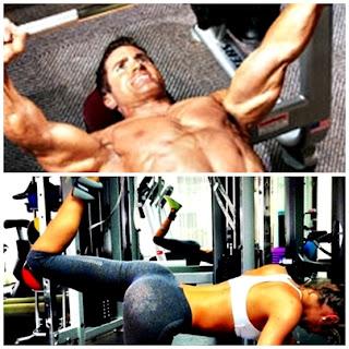 Flacos y flacas cardio y pesas masa muscular