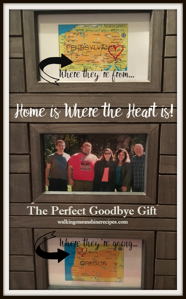 A great and easy photo frame project to make for family members when they're moving away is this week's Thursday's Tip from Walking on Sunshine Recipes.