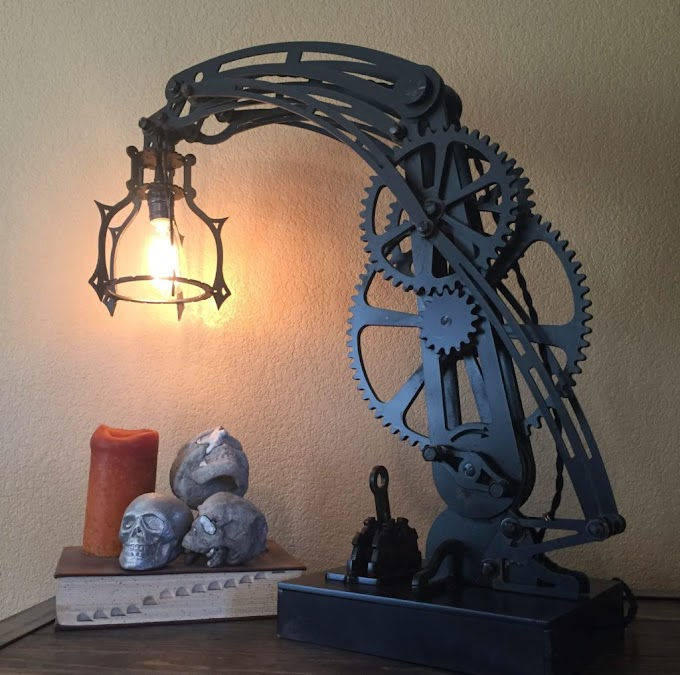 Incredible Steampunk Table Lamp
