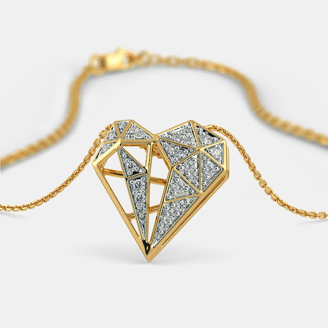 The Dgeo Glam Heart Pendant - BlueStone, 54814 INR