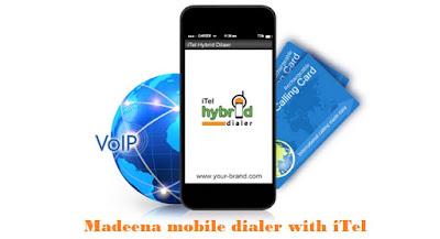 iTel hybrid dialer for Madeenaplus mobile dialer
