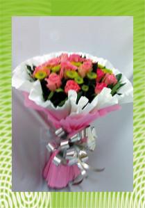 bó hoa giấy hình tròn