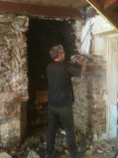 Renovaion project - Old stone fireplace