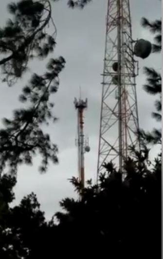 Vento forte fez Torre da Tim Balançar causando medo para moradores em Eldorado-SP