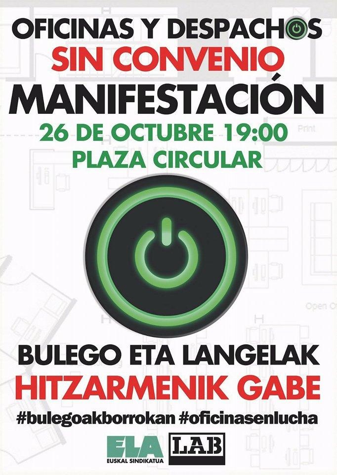 Gatos sindicales bilbao 26 o oficinas y despachos sin for Convenio colectivo oficinas y despachos valencia 2017