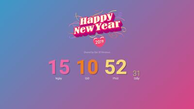 Tặng miễn phí Template đếm ngược Tết Nguyên Đán 2019 tuyệt đẹp cho Blogspot
