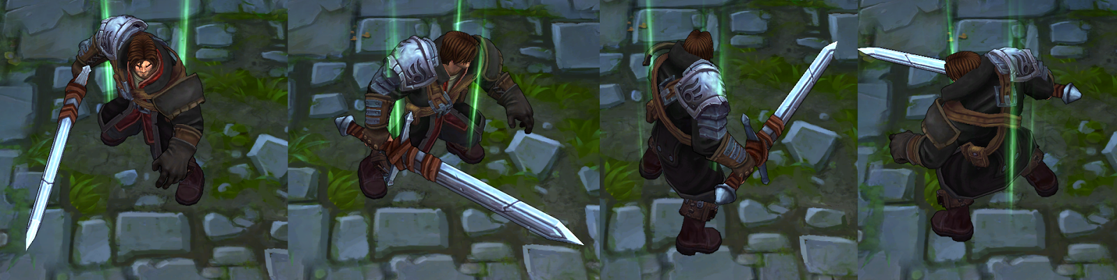 Following Suite Dreadnight Garen Is Much Darker Over All Sporting Hair Alterated Armor And Several Color Changes