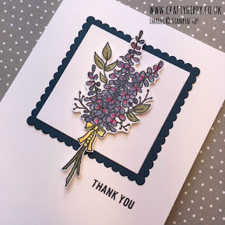 Have a go at making this Night of Navy and Lots of Lavender Card by Stampin' Up!