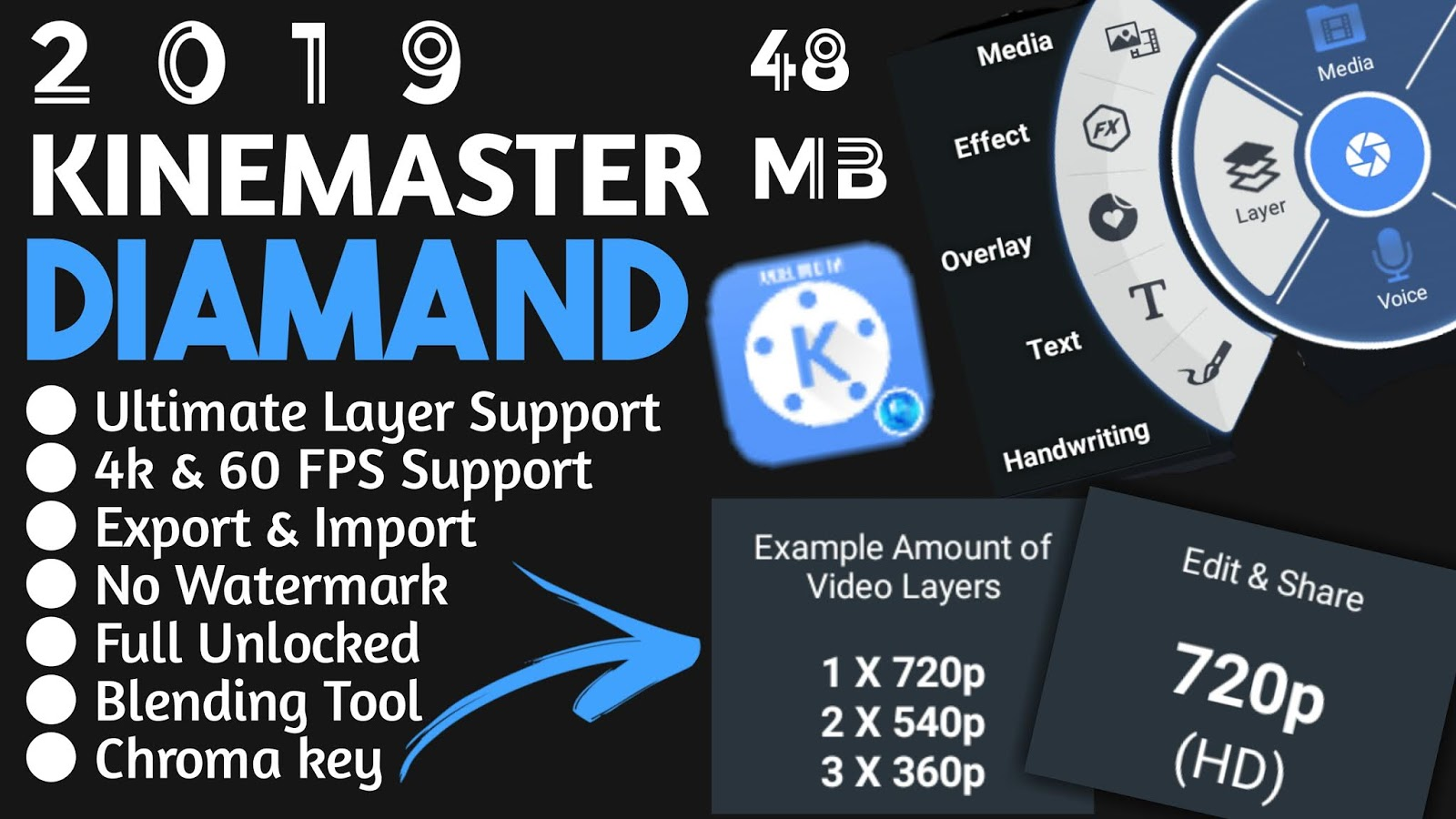 kinemaster Diamond Mode Apk 2019 No watermark with chroma