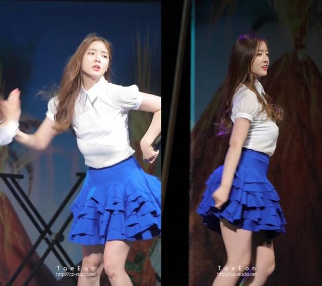 Eunjin bra falls off
