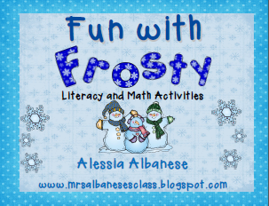 http://www.teacherspayteachers.com/Product/Fun-With-Frosty-Literacy-and-Math-Activities-451548