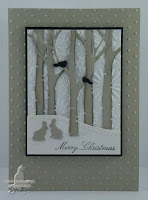 Die cut over pressure embossed background  - Susan Joyce