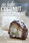 NO BAKE COCONUT SNOWBALLS