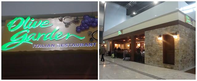 restaurante Olive Garden - aeroporto de Guarulhos