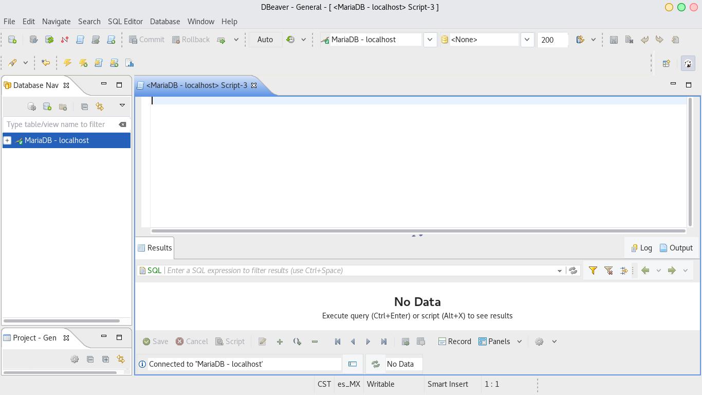 Conectar DBeaver con base de datos MariaDB de XAMPP 7.1.4