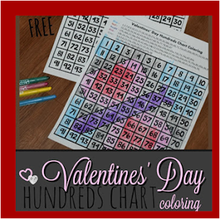valentines day hundreds chart