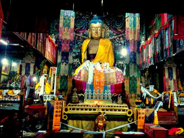 Inner view of Ghum Monastery