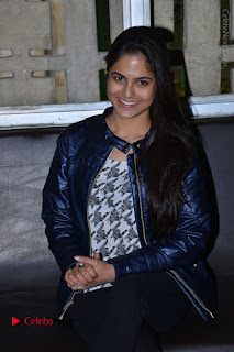 Actress Nanina Ganguly Stills in Black Tights with Vangaveeti Movie Team at Devi Theater  0030.JPG
