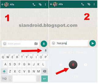 tombol perintah suara whatsapp