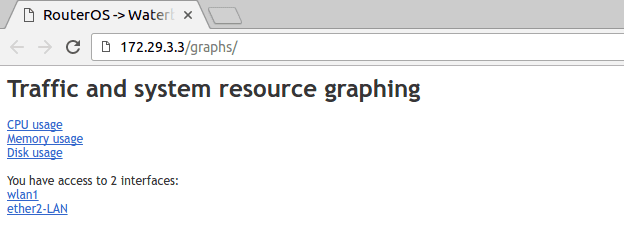 Akses graphing mikrotik via web browser