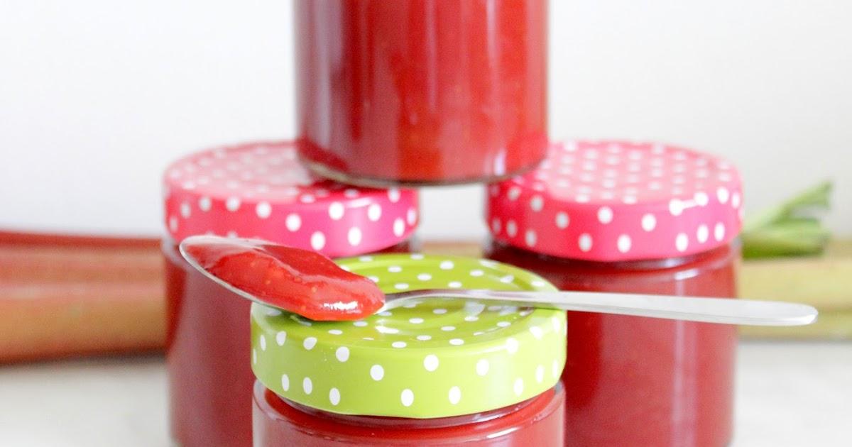 rezepte mit herz erdbeer rhabarber marmelade mit tonkabohne. Black Bedroom Furniture Sets. Home Design Ideas