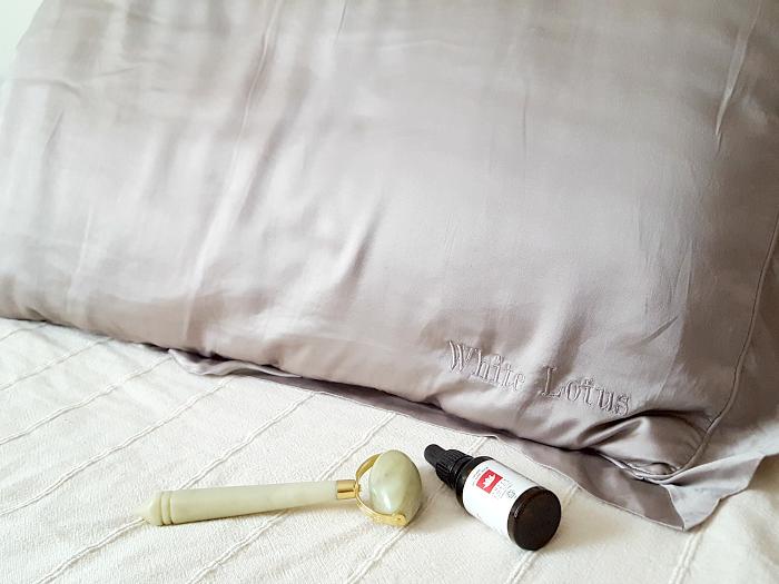 White Lotus Anti-Falten Kissenbezug aus 100% Maulbeer Seide