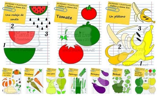 Molde De Frutas E Legumes De Eva Para Imprimir Como Fazer