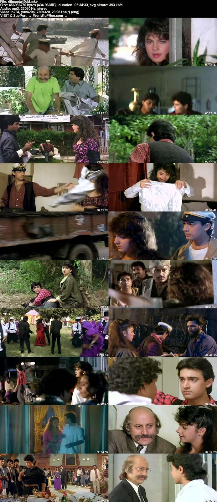 Download Dil Hai Ki Manta Nahin (1991) DVDRip 400mb ESubs
