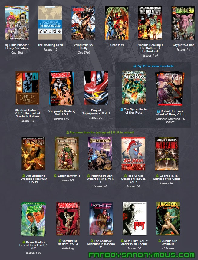 Read every Dynamite Entertainment comic book DRM-free on any mobile device