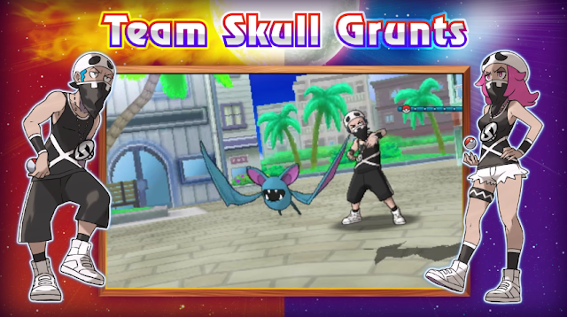 Team Skull Grunts Zubat Alola Pokémon Sun Moon