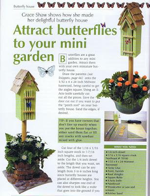 dollhouse miniature butterfly house