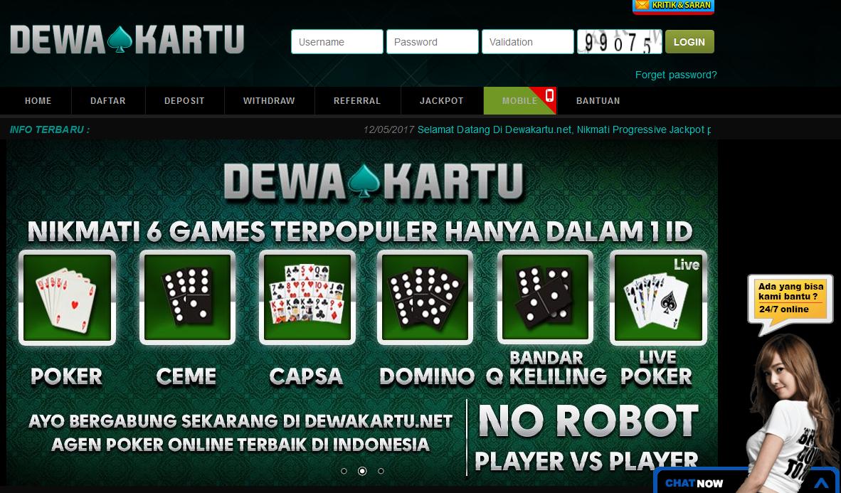 Dewakartu Situs Dewa Poker Terpercaya Di Indonesia
