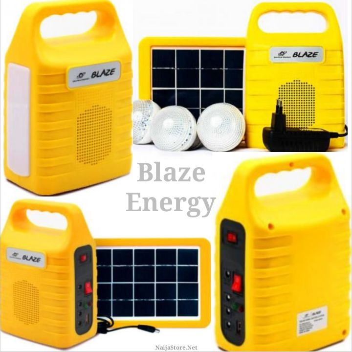 Blaze Home Solar-Powered LED Lighting Kit with USB Ports - Salpha Indoor and Outdoor AC/Sun-Energy Light System