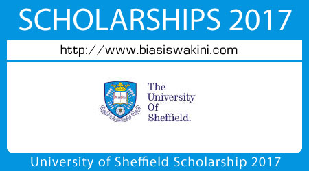 University of Sheffield Scholarship 2017