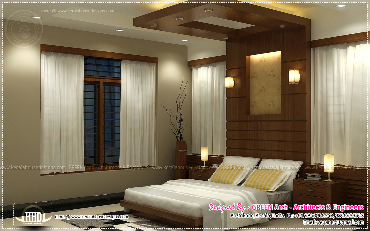 Beautiful home interior designs by green arch kerala for One bedroom house interior design
