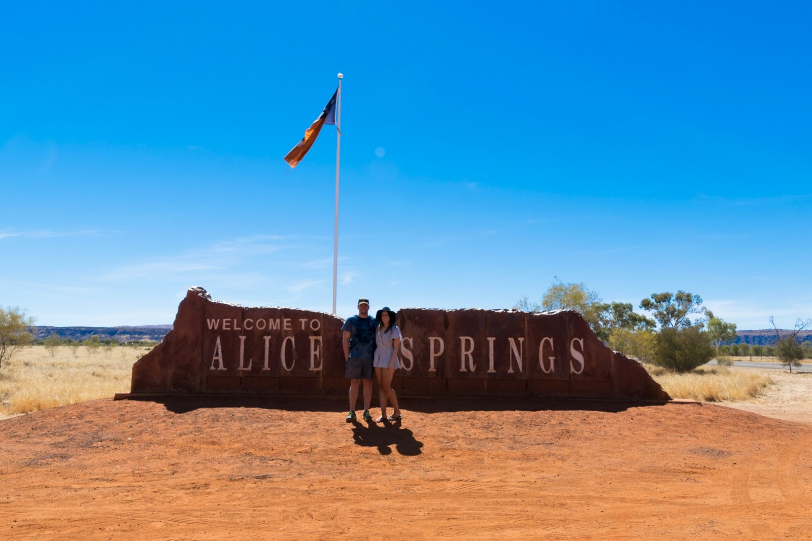 welcome to alice springs sign