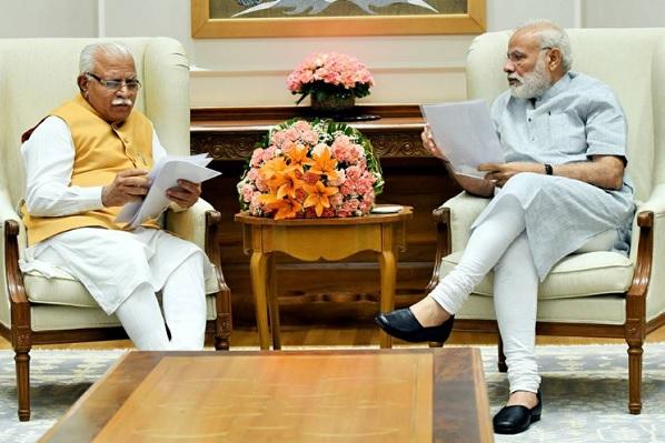 PM मोदी से मिले CM खट्टर, बोले UP की तरह हरियाणा का भी भला करो मोदी जी