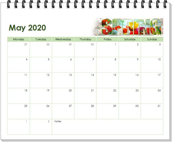 kalender 2020 mei