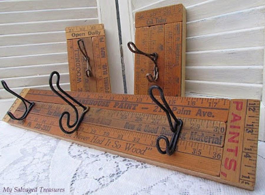 Decorar con reglas de madera decoraci n for Como reciclar un escritorio de madera