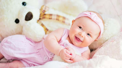 cutysweety-smiling-baby-girl-playing-with-white-teddy