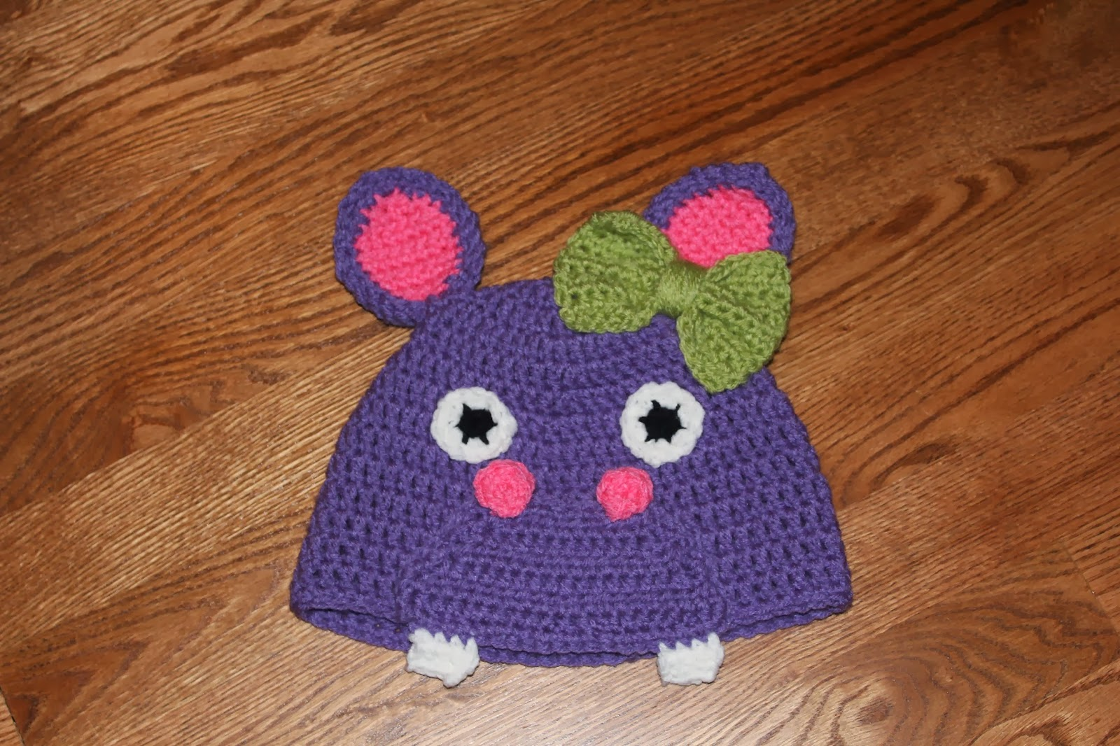 The Crafty Flutist: Crocheted Hippo Beanie- Free Pattern