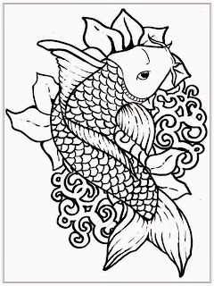 Free Japanese Koi Fish Coloring Pages For Adult