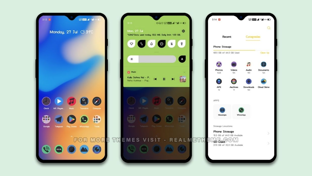 Green UI Theme for Realme Devices