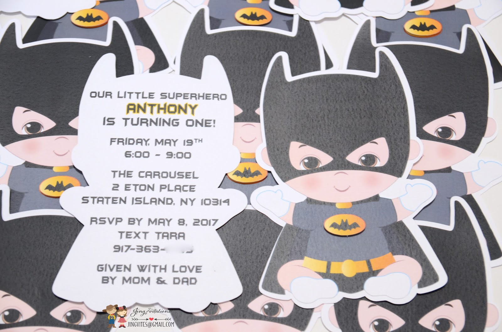 Birthday and Baby Shower Invitations: batman