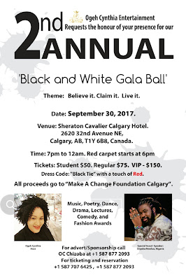 Ogeh Cynthia To Hold 2nd Annual Black and White Gala Ball
