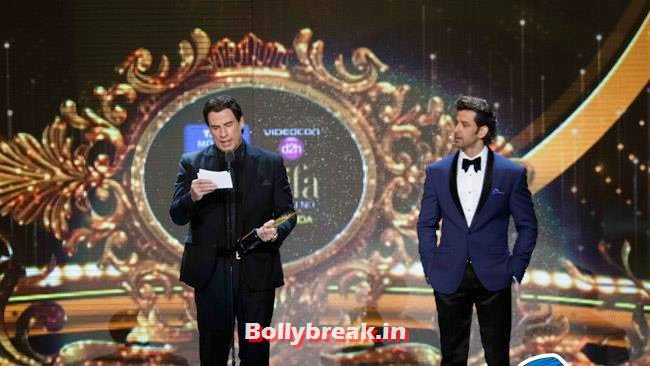 John Travolta and Hrithik Roshan, IIFA Awards 2014 Pics